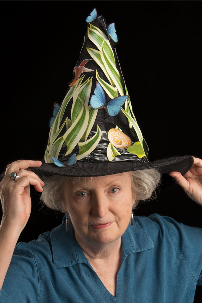 Janice in a hat