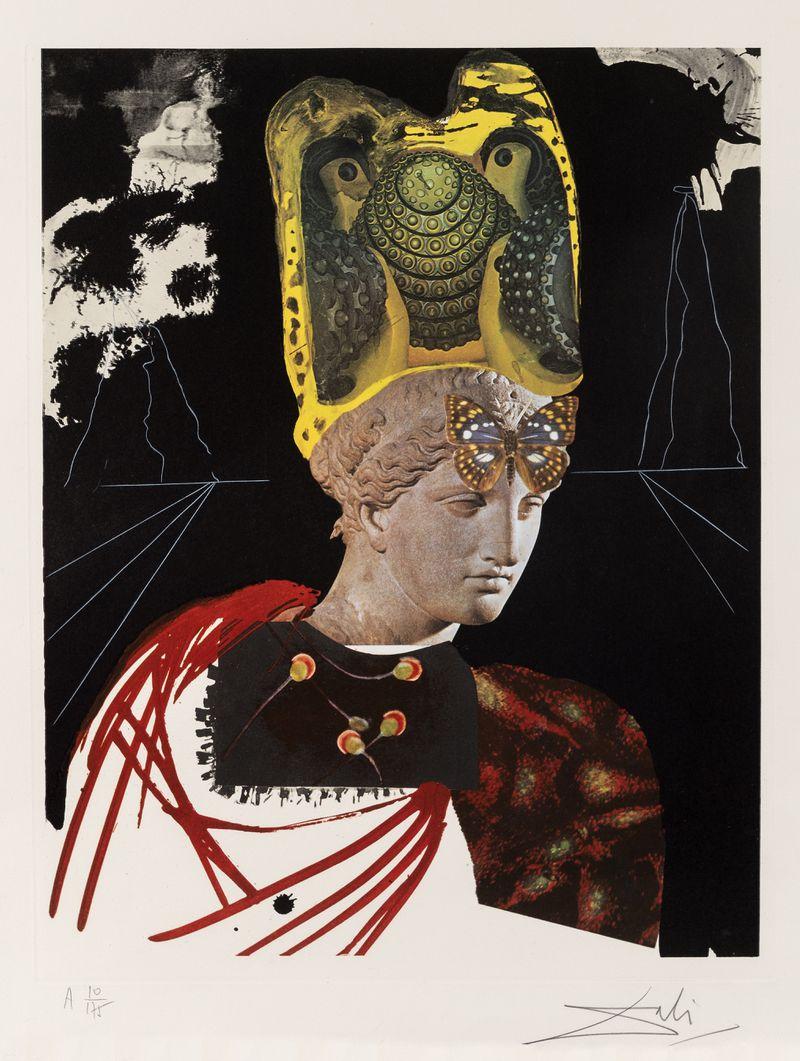 Salvador Dalí (Spanish, 1904-1989) Crazy, Crazy, Crazy Minerv